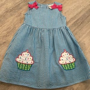 Gingham cupcake sundress sz 3T